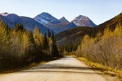 Stewart Cassiar Highway 37 το φθινόπωρο Π.Χ. Καναδάς στοκ εικόνες