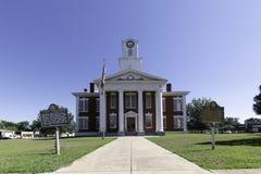 Stewart County Courthouse främre sikt royaltyfria bilder