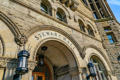 Stewart Hall at West Virginia University. The iconic Stewart Hall on the campus of West Virginia University, known as WVU, in Morgantown, West Virginia royalty free stock photos