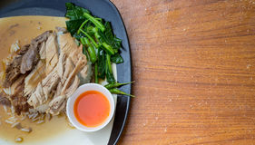 Stewd pork leg on rice Royalty Free Stock Image