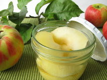 Stewed apples Stock Photo