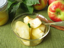 Stewed apples Stock Image
