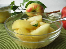 Stewed apples Stock Images