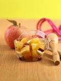 Stewed apples with dried fruit Royalty Free Stock Photo