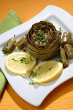 Stewed artichoke Royalty Free Stock Images