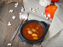Stewed beans in tomato sauce Royalty Free Stock Photography