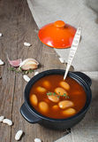 Stewed beans in tomato sauce Royalty Free Stock Image