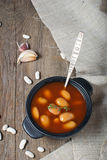 Stewed beans in tomato sauce Stock Photography