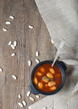Stewed beans in tomato sauce Stock Images