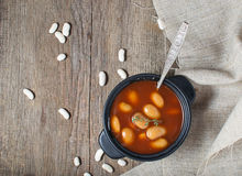 Stewed beans in tomato sauce Stock Photos
