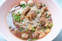 Stewed Beef Noodle Soup Royalty Free Stock Image