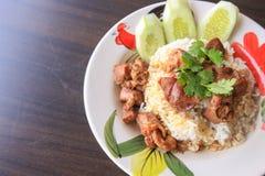 Stewed beef with rice. A Stewed beef with rice Royalty Free Stock Photo