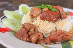 Stewed beef with rice. A Stewed beef with rice Royalty Free Stock Images