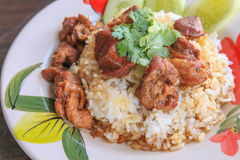 Stewed beef with rice. A Stewed beef with rice Stock Images