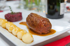 Stewed beef roulade Royalty Free Stock Image