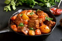 Stewed beef and vegetables Royalty Free Stock Photography