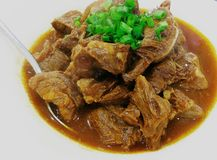 Stewed Beef. Stewed  beef in white Stock Photography