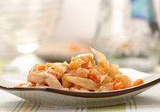 Stewed cabbage with chicken Royalty Free Stock Image