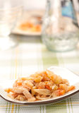 Stewed cabbage with chicken Stock Images
