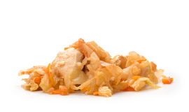 Stewed cabbage with chicken Stock Photo
