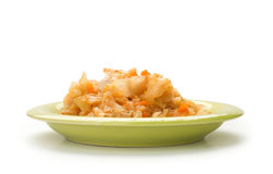Stewed cabbage with chicken Royalty Free Stock Photo