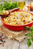 Stewed cabbage with meat Royalty Free Stock Photography
