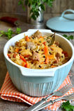 Stewed cabbage with meat. Stock Images
