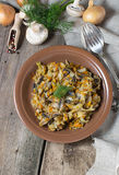 Stewed cabbage with mushrooms and carrot Stock Images