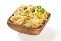 Stewed cabbage  on plate Royalty Free Stock Image
