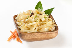 Stewed cabbage  on plate Royalty Free Stock Photography
