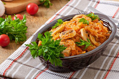 Free Stewed Cabbage With Mushrooms Stock Images - 46498534