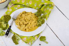Stewed chicken with curry sauce with empty background Stock Photos