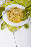 Stewed chicken with curry sauce and sesame with empty background Royalty Free Stock Photography