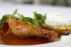 Stewed Chicken Leg Stock Photo
