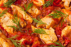 Stewed chicken meat Royalty Free Stock Image