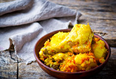 Stewed chicken with potato Royalty Free Stock Images