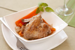 Stewed chicken with vegetables Royalty Free Stock Photography