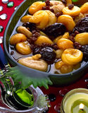 Stewed dried fruit salad Royalty Free Stock Photo
