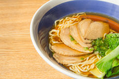 Stewed duck with egg noodles soup Stock Photos