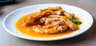 Stewed duck trotter , Chinese cuisine Stock Image
