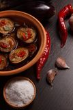 Stewed eggplant Royalty Free Stock Images