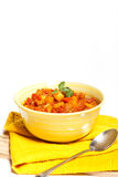 Stewed eggplant with tomato Stock Photography