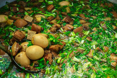 Stewed eggs. Delicious Thai food Stock Images