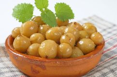 Stewed gooseberries Royalty Free Stock Photo