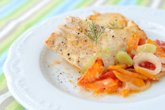 Stewed haddock Royalty Free Stock Photo
