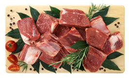 Stewed horse meat with bone Royalty Free Stock Images