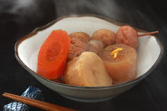 Stewed Ingredients in Broth Oden, Japanese Food Royalty Free Stock Image