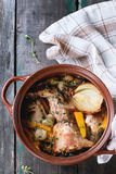 Stewed królik z warzywami Obrazy Royalty Free