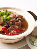 Stewed Beef In Claypot stock photography