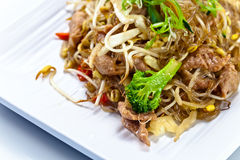 Stewed  meat with noodles.  Korean cuisine. Royalty Free Stock Photography